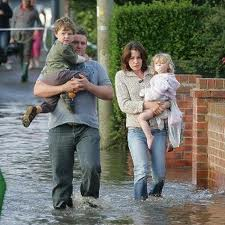 Family without flood Insurance